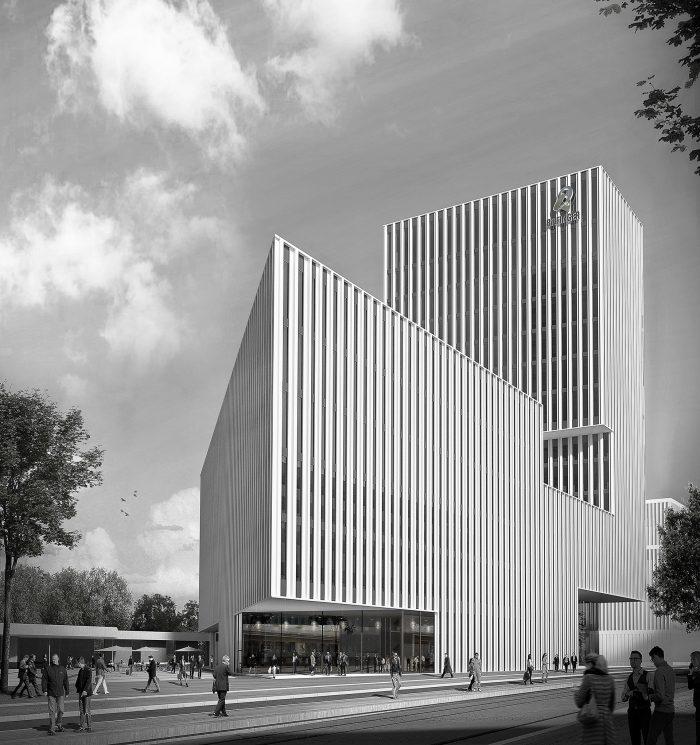 Neubau Bilfinger Zentrale mit integriertem Ideenwettbewerb Neubau Zugangs- und Lärmschutzbauwerk Lindenhofplatz