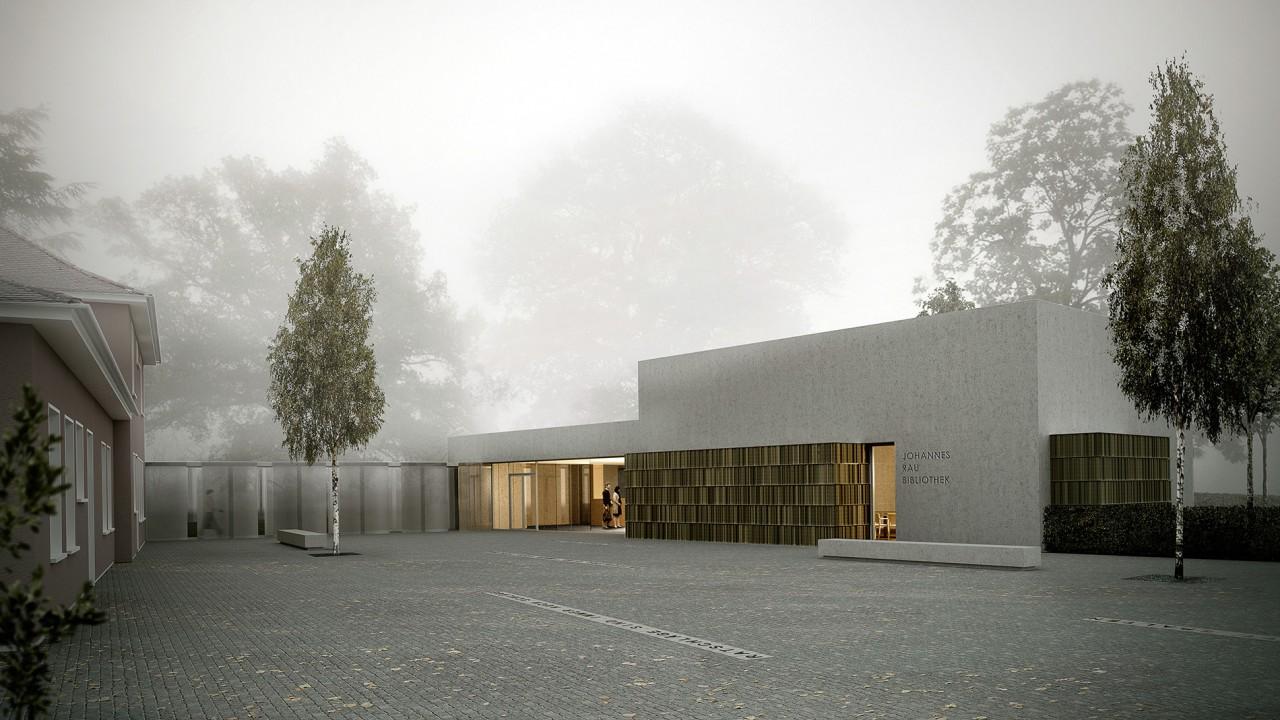 Neubau der Johannes Rau Bibliothek in Wuppertal
