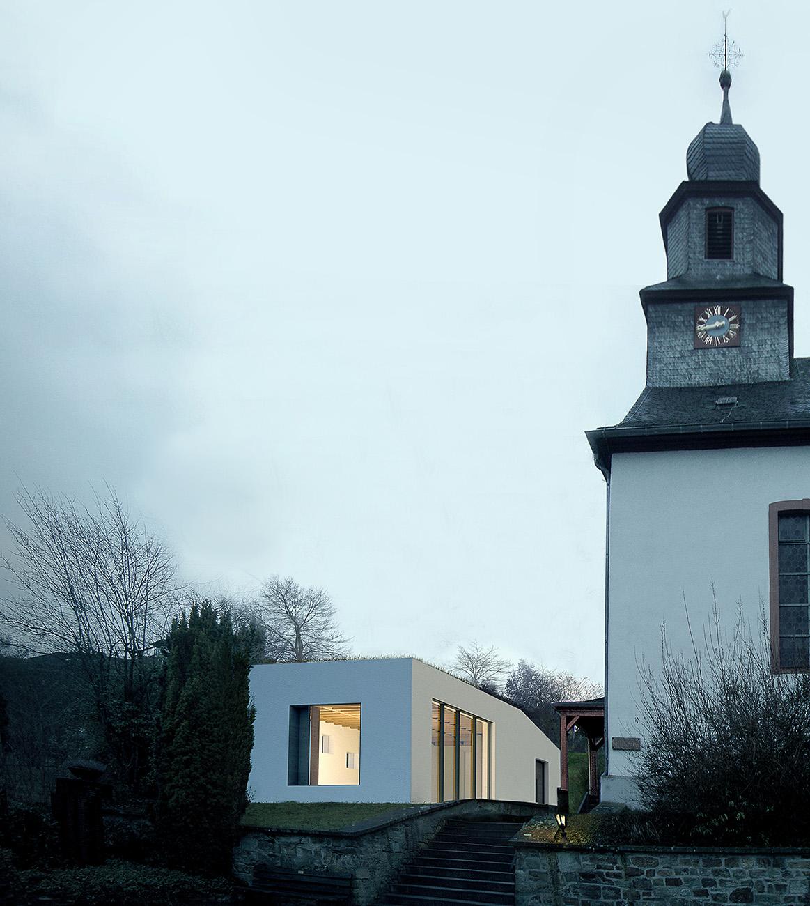 neubau eines gemeindehauses in beuerbach