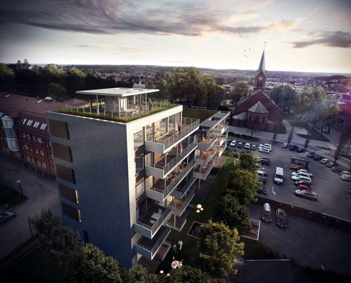Neubau eines Wohnhauses in Sarpsborg, Norwegen