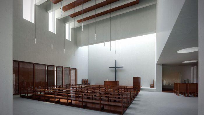 Kirche und Wohnbauten Mauritiuspark Bonstetten