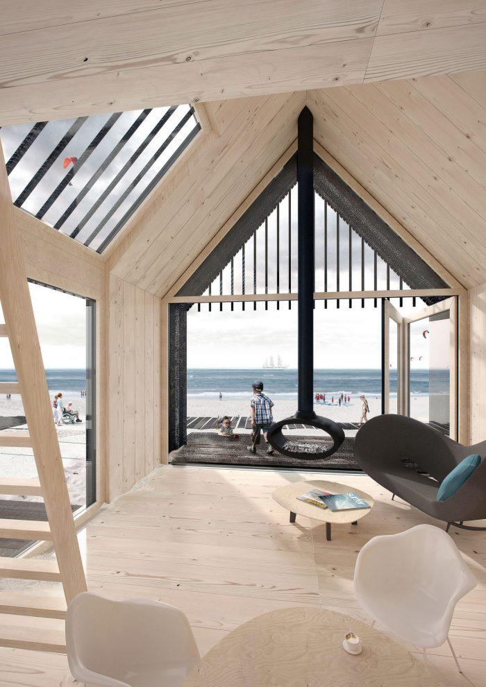 Innenansicht strandhuisjes