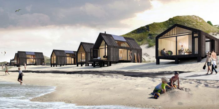 Nieuwe kust Petten met 80 strandhuisjes