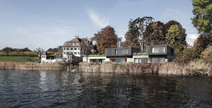 Neubau einer Villa in der Kempratner Bucht.