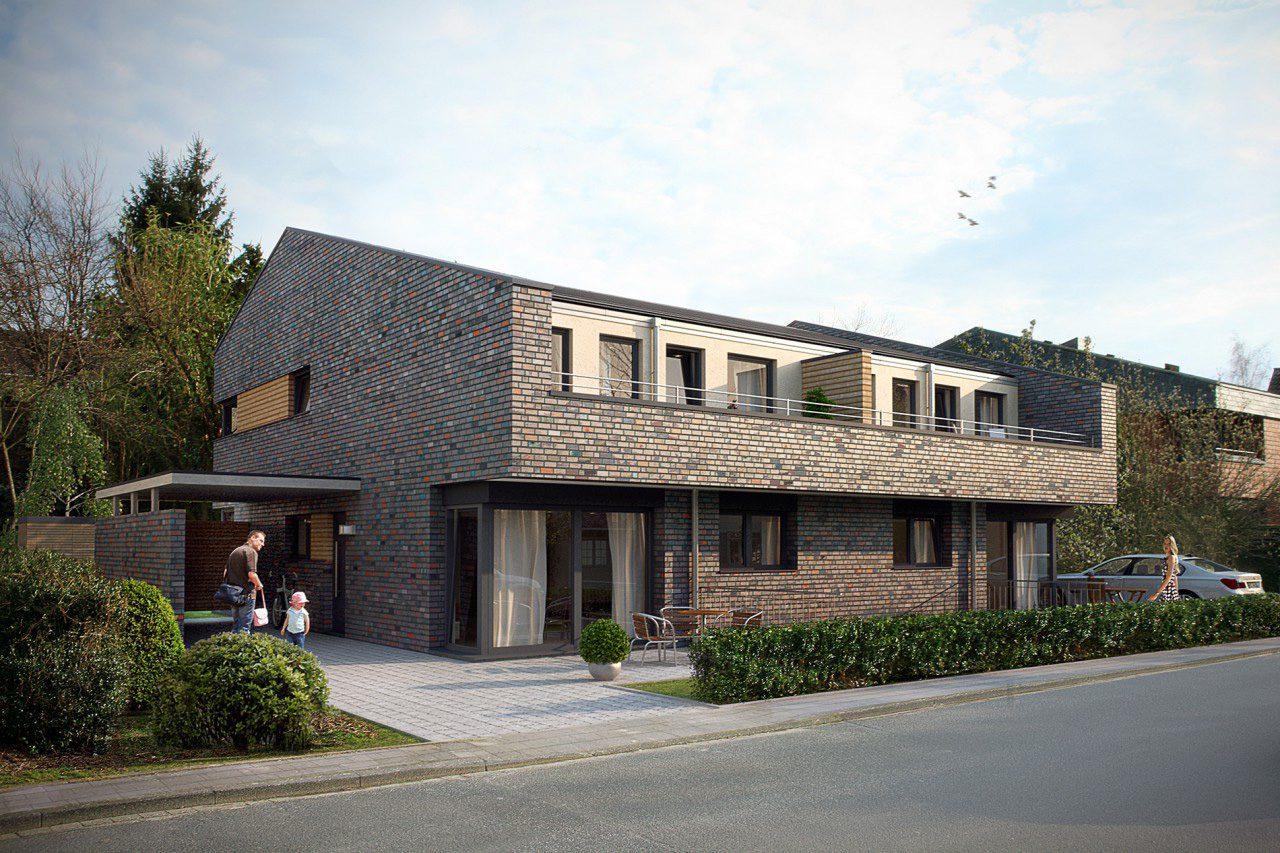 Neubau eines Doppelhauses in Münster