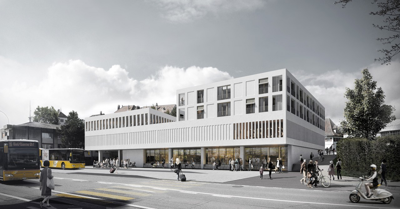 Neubau einer Poststation, Migros