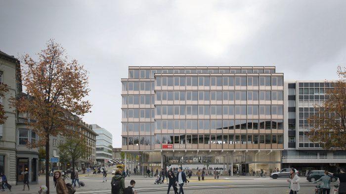 Neubau mit Bahnzugang Bubenbergzentrum 10-12