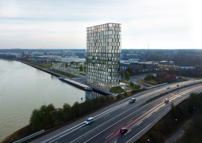 Wettbewerb Büroturm am Dreieckshafen von Münster