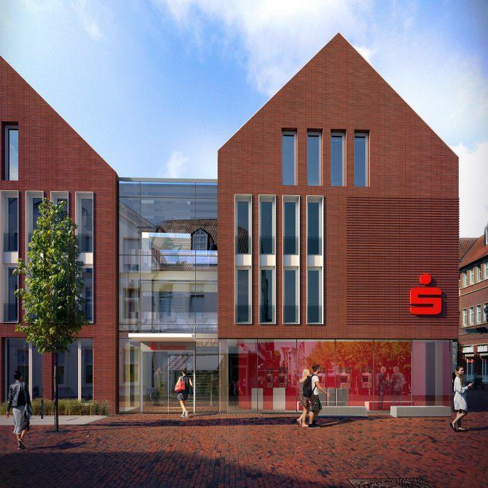 Architekturbüro B-Werk plant neue Sparkasse in Lingen