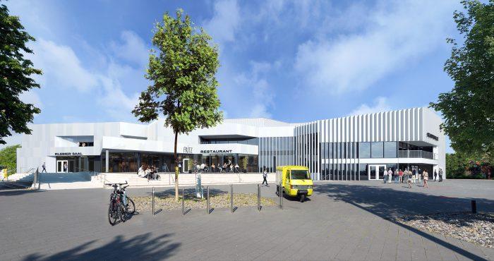 Neugestaltung Fassade Stadthalle