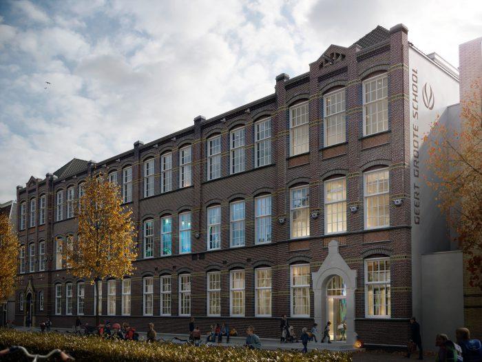 Architectenselectie Geert Groote School Amsterdam gewonnen!