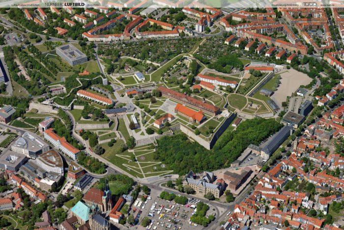 Visualisierung zur Daueranlage auf dem Petersberg im Rahmen der BUGA Erfurt 2021