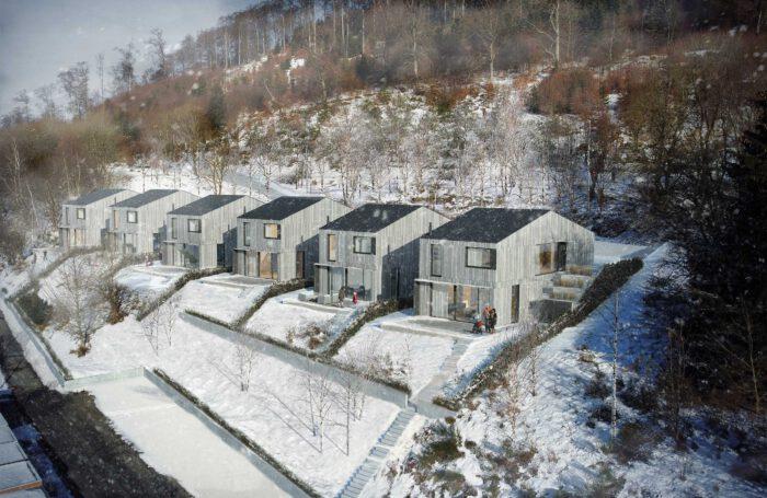 Neubau von Ferienhäusern in Winterberg