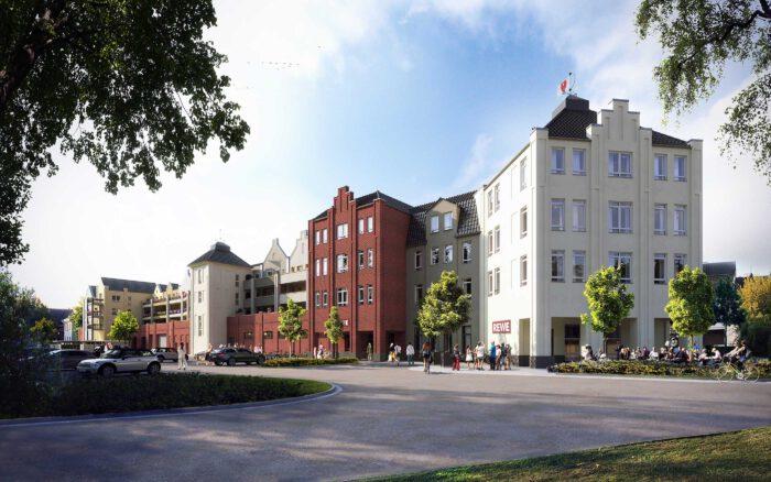 architekturvisualisierung stadtgarten quartier