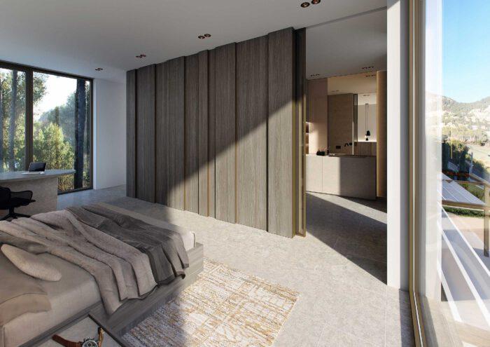 Neubau einer Villa auf Mallorca mit Meerblick
